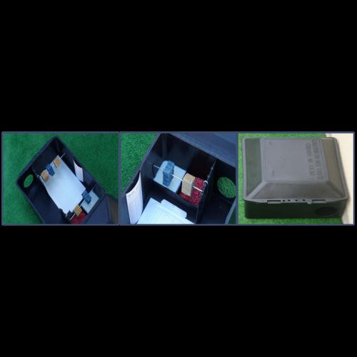 Caja cebadera monitor