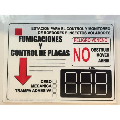 Tarjeta de seguridad para control de cebaderos y monitoreo de roedores